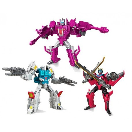 Transformers Titans Return Deluxe Windblade  Misfire and Twintwist Set Of 3