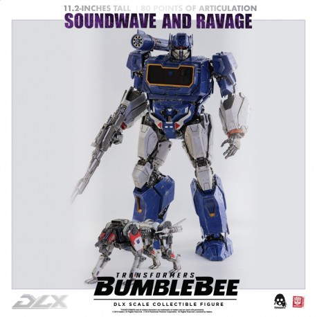Three Zero Transformers Bumblebee DLX  Scale Collectible Series Soundwave & Ravage
