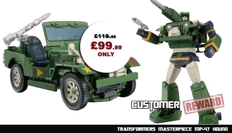 Customer Reward Program: Transformers Masterpiece MP-47 Hound